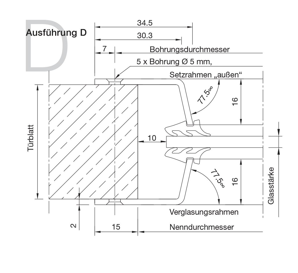 Bullaugen Aluminium Version D