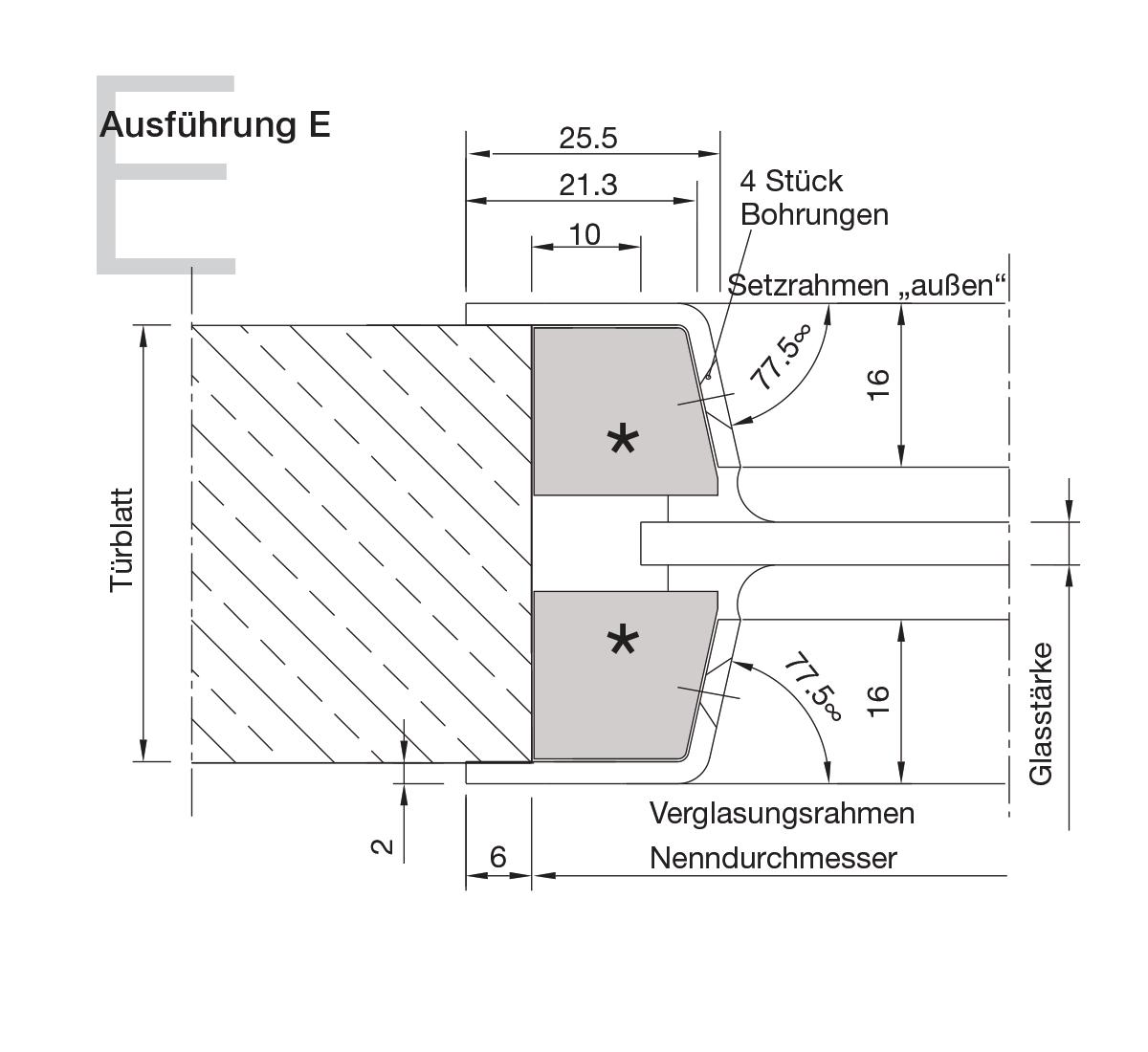 Bullaugen Aluminium Version E