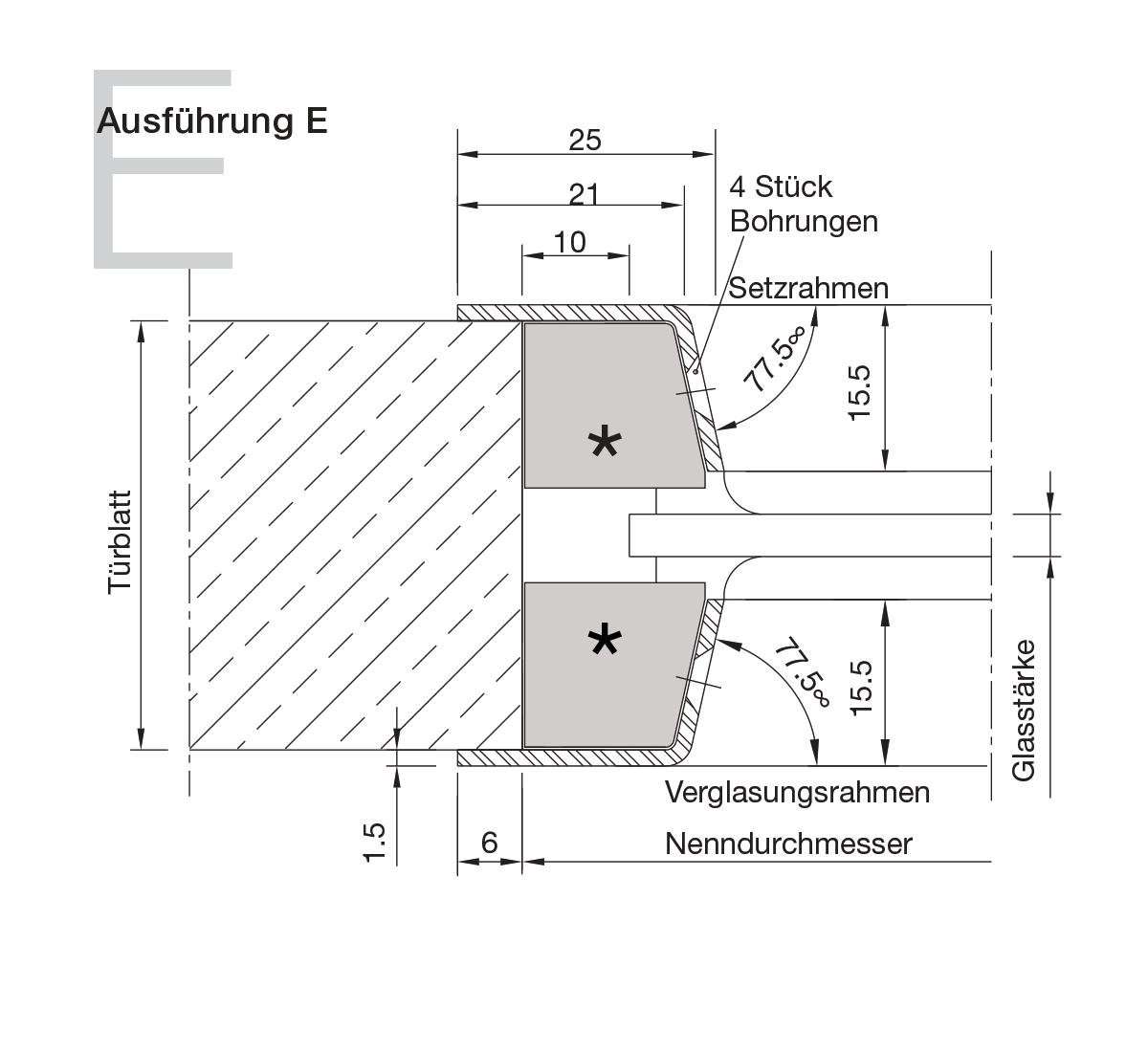 Bullaugen Edelstahl Version E