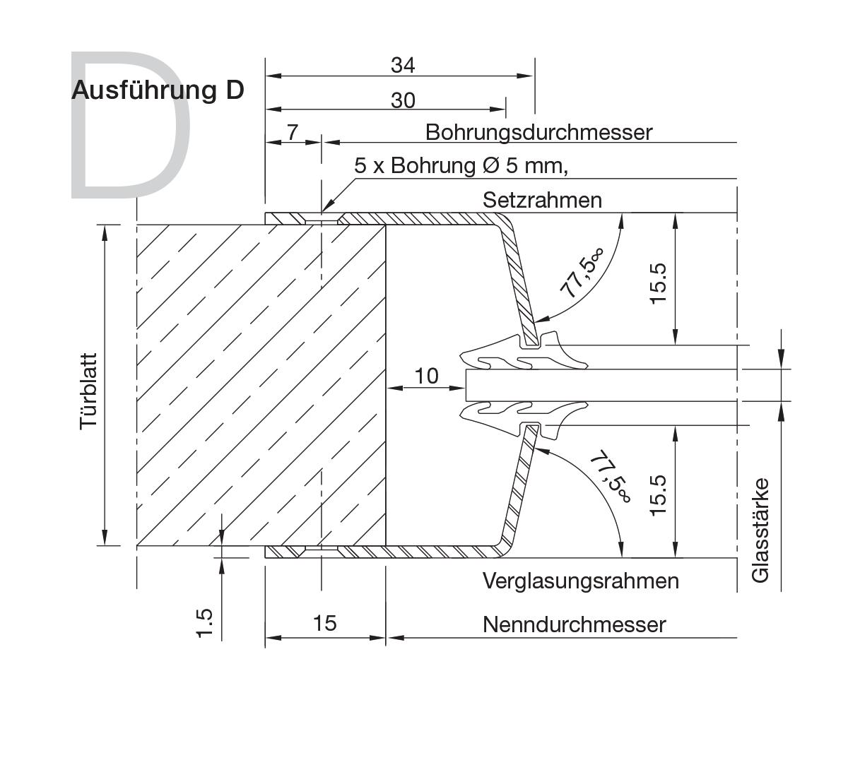 Bullaugen Edelstahl Version D